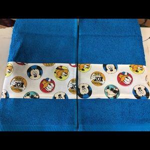 Custom teal hand towel with Disney